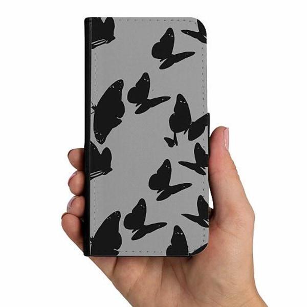 Sony Xperia 5 Mobilskalsväska Dark Butterflies
