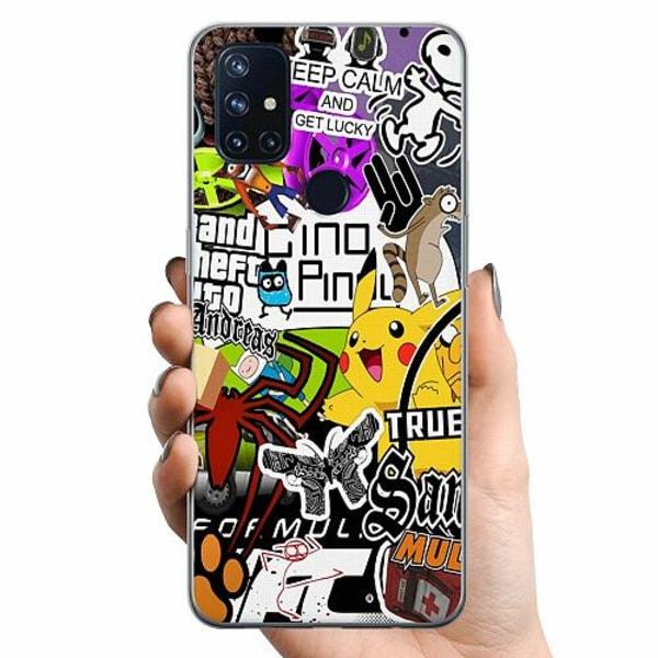 OnePlus Nord N10 TPU Mobilskal Stickers