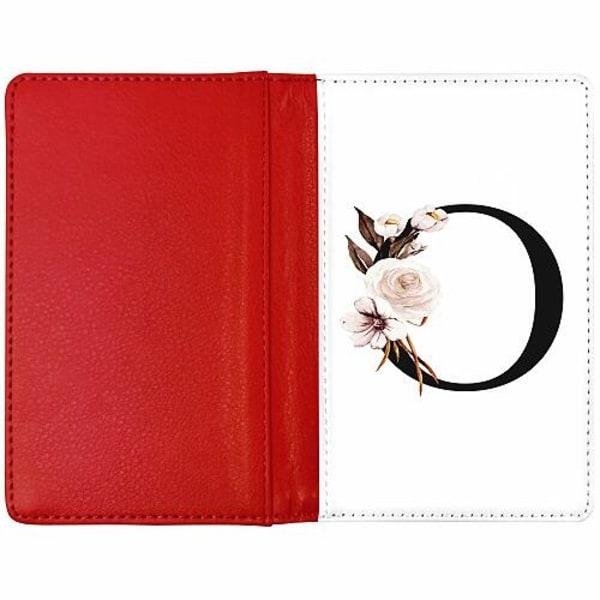 Passfodral Röd - Bokstäver