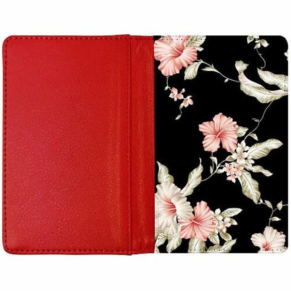 Passfodral Röd - Floral Pattern Black