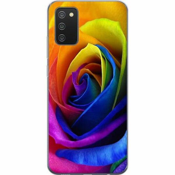 Samsung Galaxy A02s TPU Mobilskal Blomma