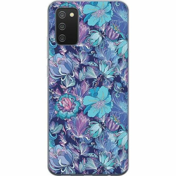 Samsung Galaxy A02s TPU Mobilskal Blommor