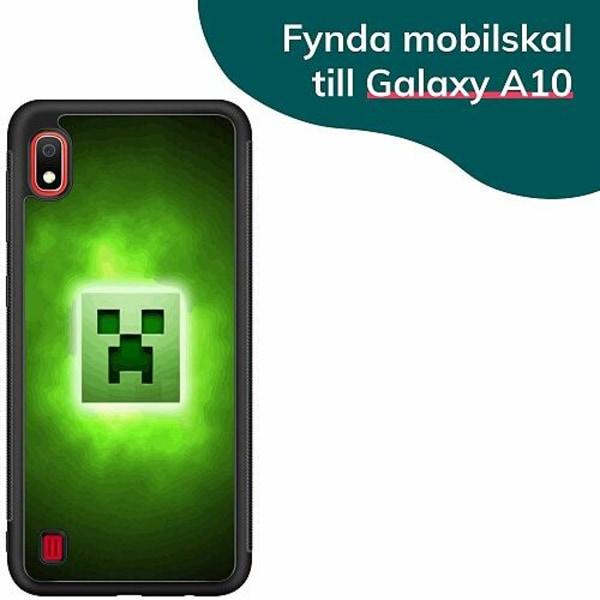 Samsung Galaxy A10 Billigt mobilskal - MineCraft Rainbow
