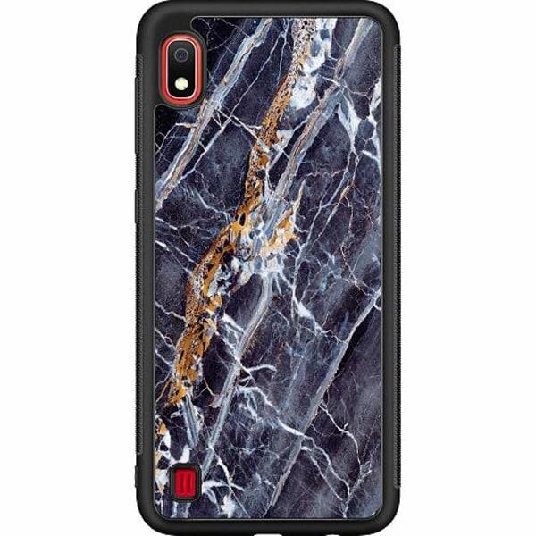 Samsung Galaxy A10 Soft Case (Svart) Marmor
