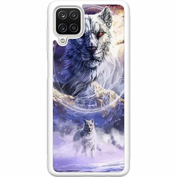 Samsung Galaxy A12 Soft Case (Vit) Kanu, The Frost Wolf God