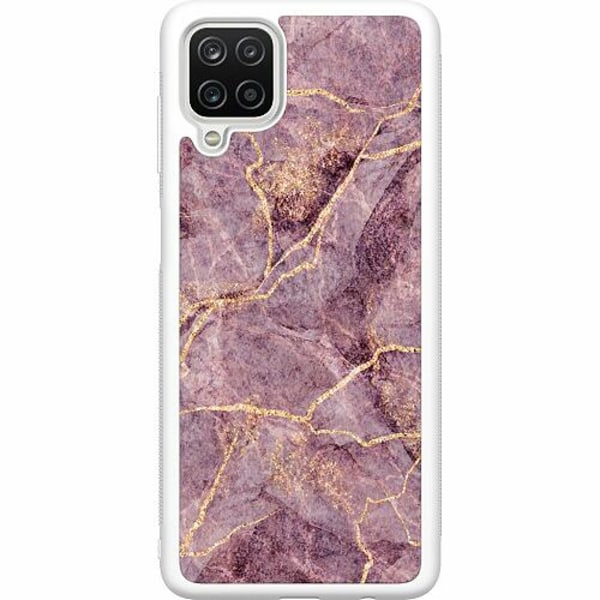 Samsung Galaxy A12 Soft Case (Vit) Purple Rain