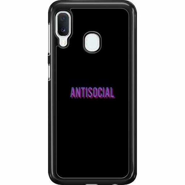 Samsung Galaxy A20e Hard Case (Svart) Antisocial