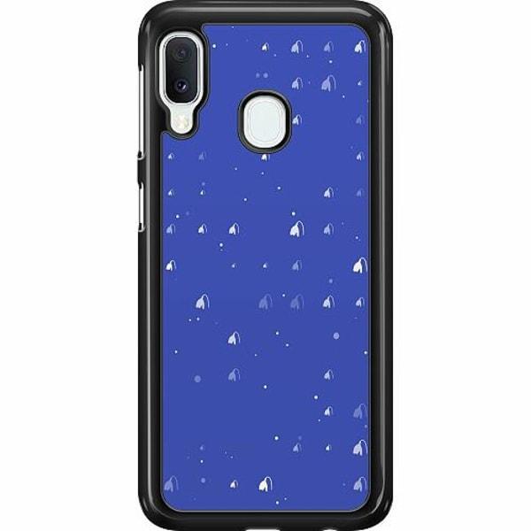 Samsung Galaxy A20e Hard Case (Svart) Bubbles Invaders