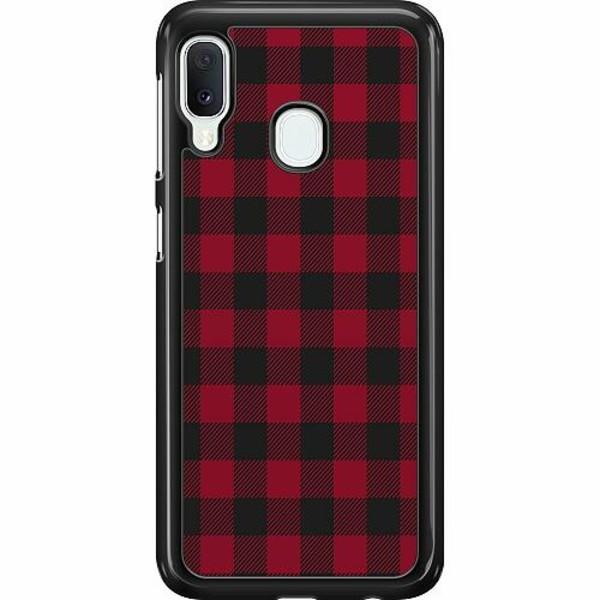 Samsung Galaxy A20e Hard Case (Svart) Checkered Flannel