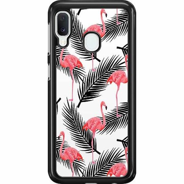 Samsung Galaxy A20e Hard Case (Svart) Flamingo