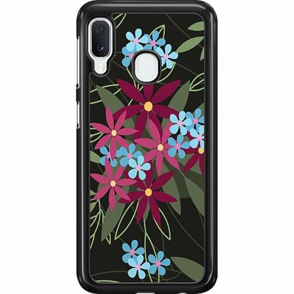 Samsung Galaxy A20e Hard Case (Svart) Flowerz