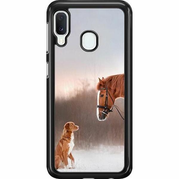 Samsung Galaxy A20e Hard Case (Svart) Häst & Hund