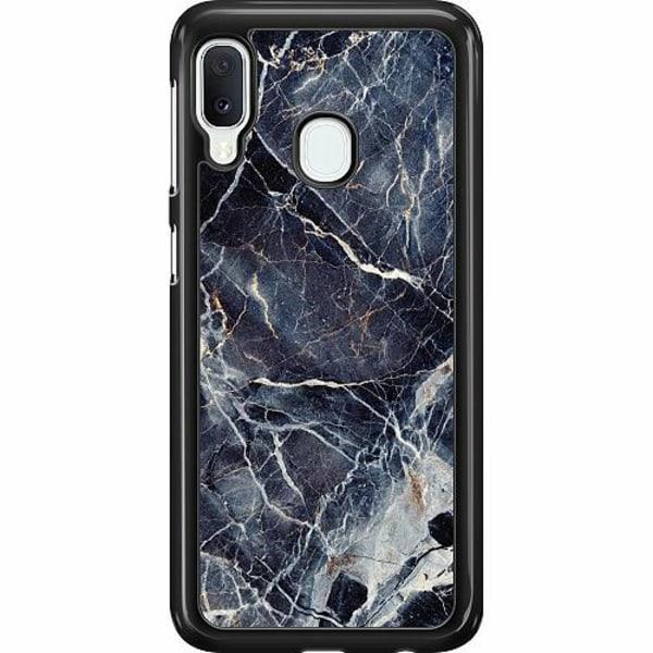 Samsung Galaxy A20e Hard Case (Svart) Marbled
