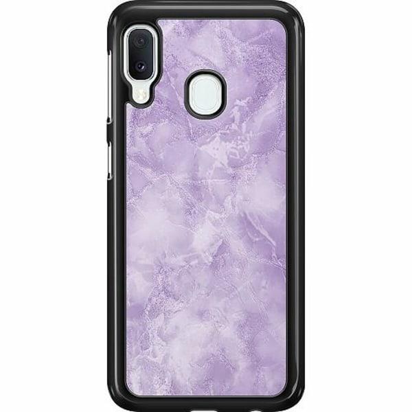 Samsung Galaxy A20e Hard Case (Svart) Marmor