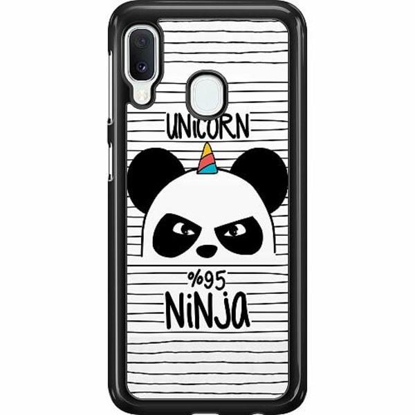 Samsung Galaxy A20e Hard Case (Svart) Panda