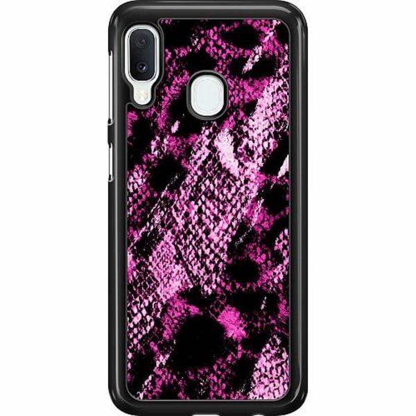 Samsung Galaxy A20e Hard Case (Svart) Snakeskin P