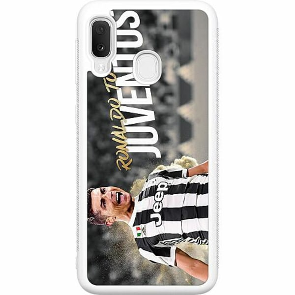 Samsung Galaxy A20e Soft Case (Vit) Ronaldo