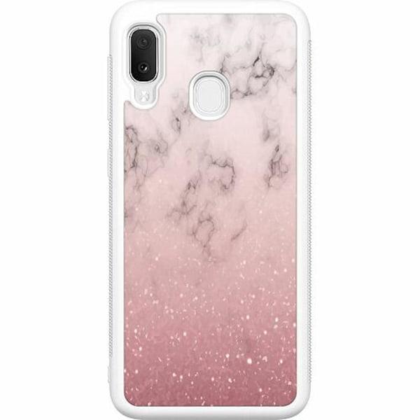 Samsung Galaxy A20e Soft Case (Vit) Rosa