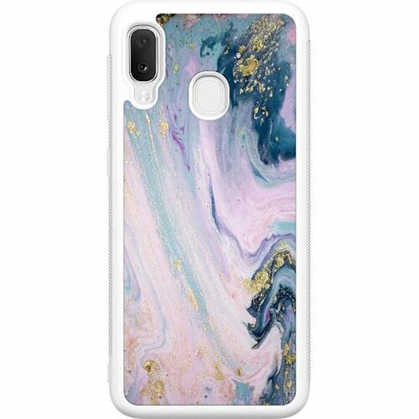 Samsung Galaxy A20e Soft Case (Vit) Bubble Bath