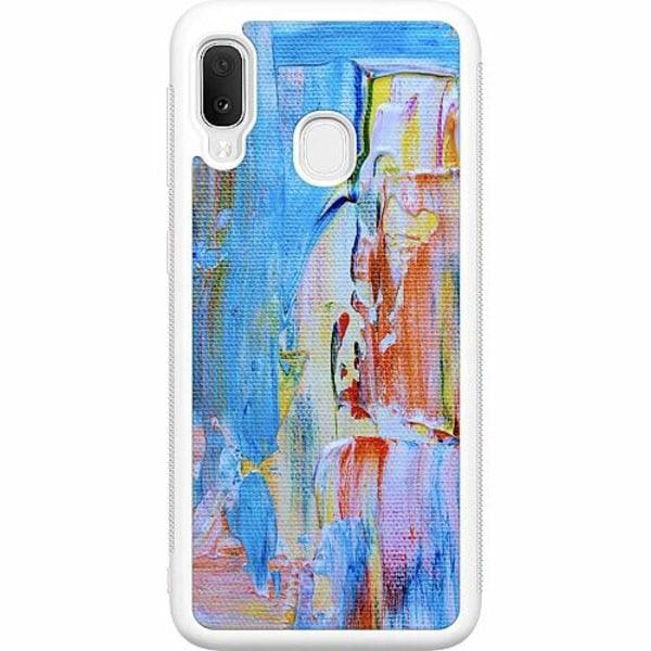 Samsung Galaxy A20e Vitt Mobilskal Cupidity on Canvas