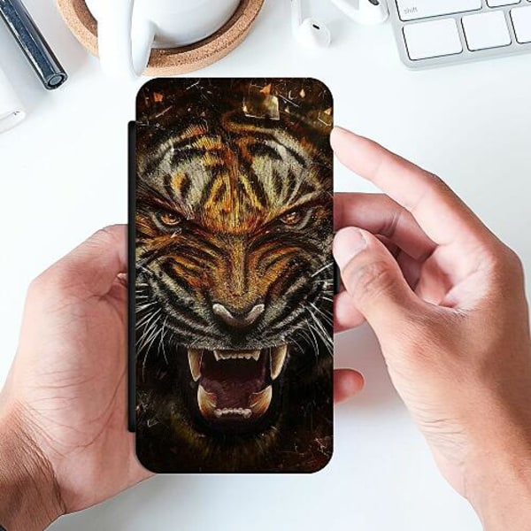 Huawei P Smart (2019) Slimmat Fodral Angry Tiger