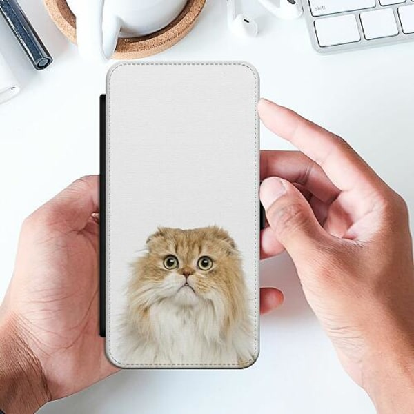 Huawei P Smart (2019) Slimmat Fodral PopUp Scared Cat
