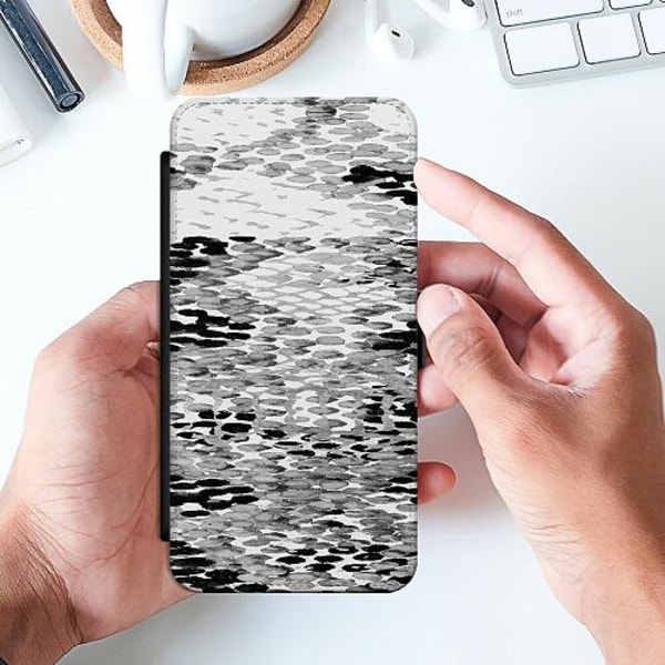 Huawei P Smart (2019) Slimmat Fodral Snakeskin BW