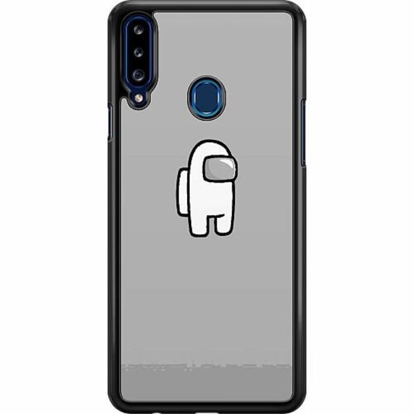 Samsung Galaxy A20s Hard Case (Svart) Among Us