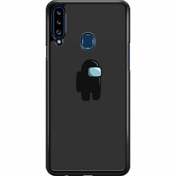 Samsung Galaxy A20s Hard Case (Svart) Among Us
