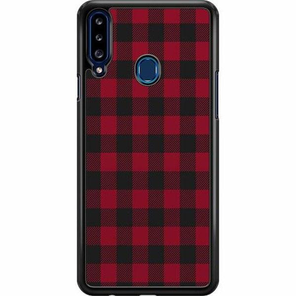 Samsung Galaxy A20s Hard Case (Svart) Checkered Flannel