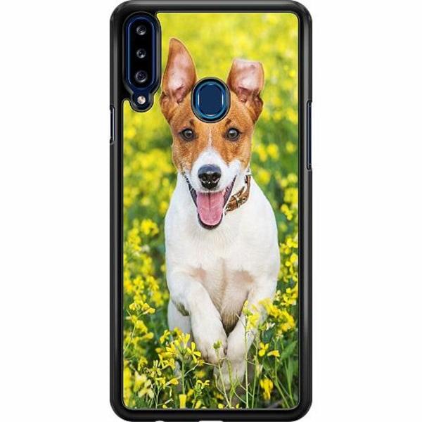 Samsung Galaxy A20s Hard Case (Svart) Happy Dog