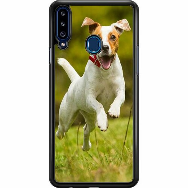 Samsung Galaxy A20s Hard Case (Svart) Happy Dog