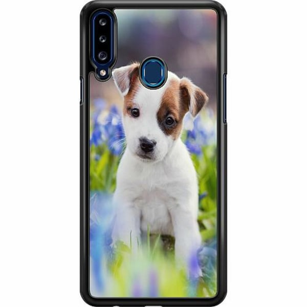 Samsung Galaxy A20s Hard Case (Svart) Hund