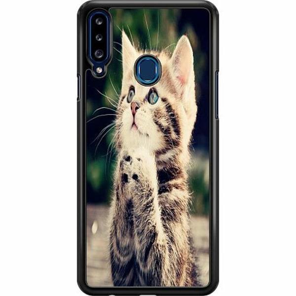 Samsung Galaxy A20s Hard Case (Svart) Katt