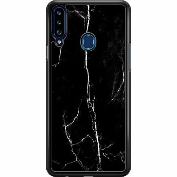 Samsung Galaxy A20s Hard Case (Svart) Lightning Struck