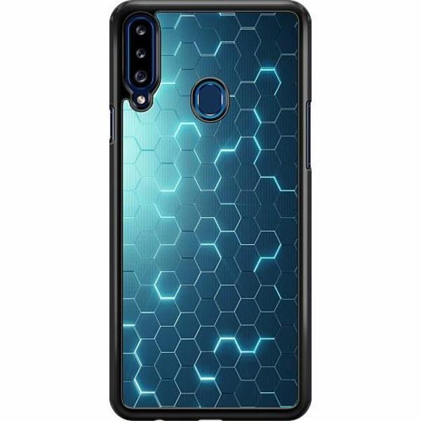 Samsung Galaxy A20s Hard Case (Svart) Mönster