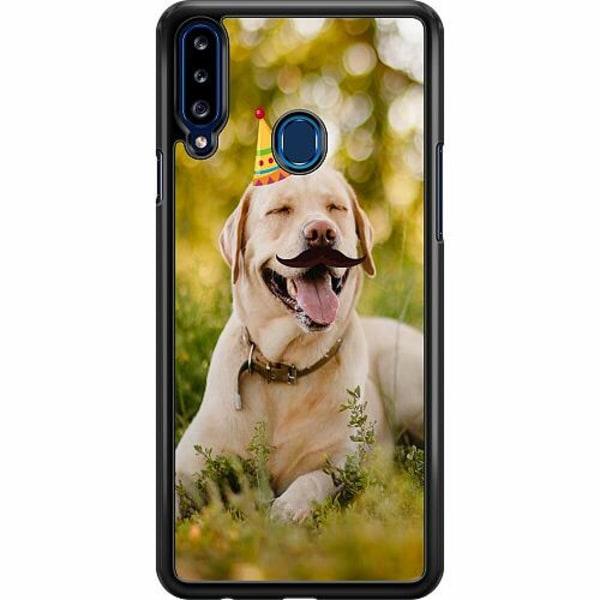 Samsung Galaxy A20s Hard Case (Svart) Party Labrador Retriever