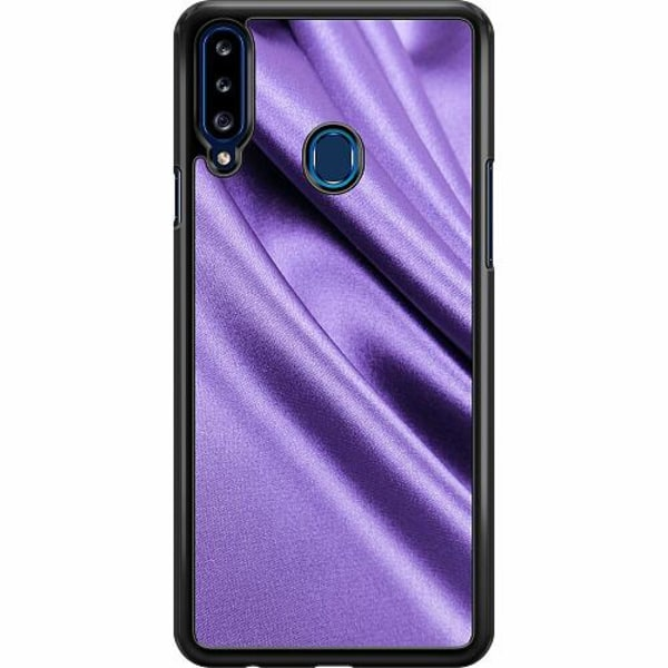 Samsung Galaxy A20s Hard Case (Svart) Silky Lavendel