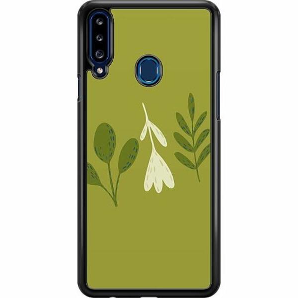 Samsung Galaxy A20s Hard Case (Svart) Simplicity Greens