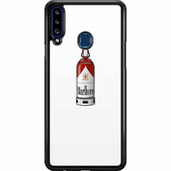 Samsung Galaxy A20s Hard Case (Svart) Smoke And Spray