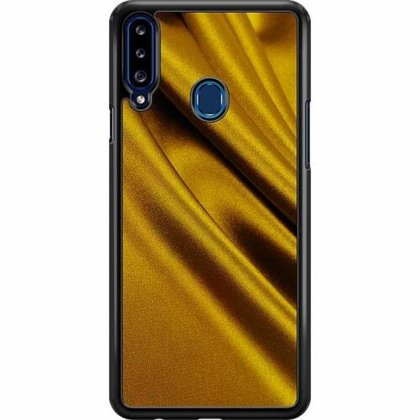 Samsung Galaxy A20s Hard Case (Svart) Smooth as Gold