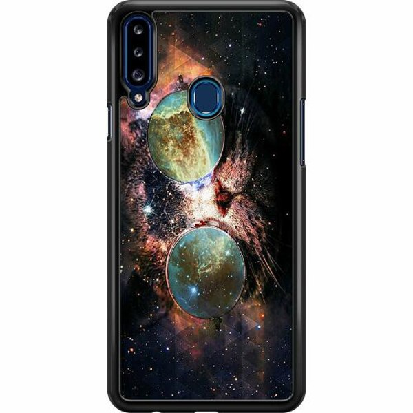 Samsung Galaxy A20s Hard Case (Svart) Space Cat