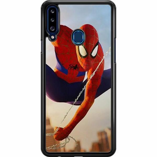Samsung Galaxy A20s Hard Case (Svart) Spiderman