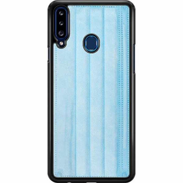 Samsung Galaxy A20s Hard Case (Svart) Surgical Blue