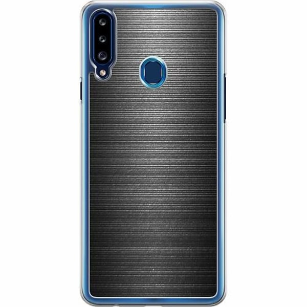 Samsung Galaxy A20s Hard Case (Transparent) Brushed Metal