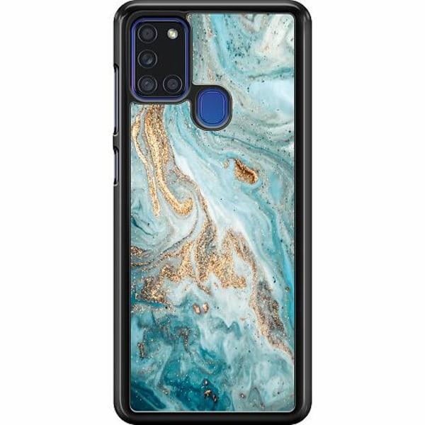 Samsung Galaxy A21s Hard Case (Svart) Magic Marble
