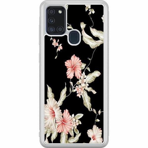 Samsung Galaxy A21s Soft Case (Frostad) Blommor