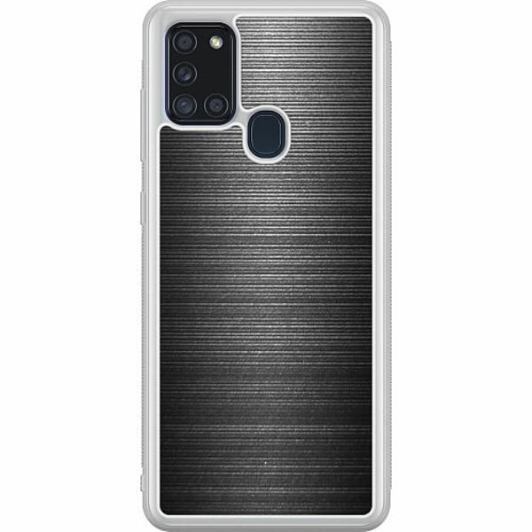 Samsung Galaxy A21s Soft Case (Frostad) Brushed Metal