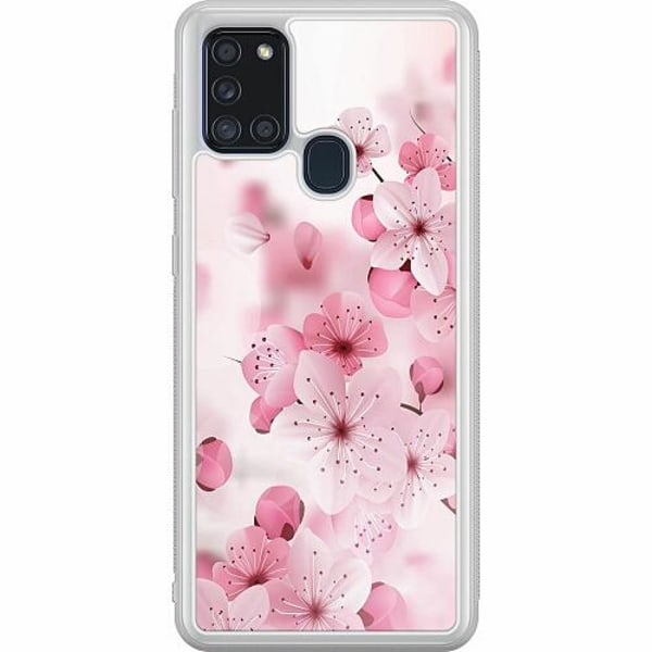 Samsung Galaxy A21s Soft Case (Frostad) Cherry Blossom