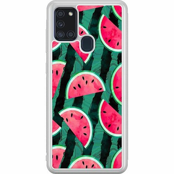 Samsung Galaxy A21s Soft Case (Frostad) Crazy for Watermelon